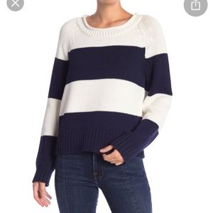 NWT frame navy and white striped sweater